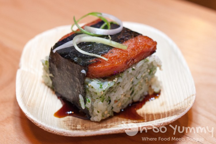 Spam Musubi at Trade Winds Tavern gastropub in Convoy