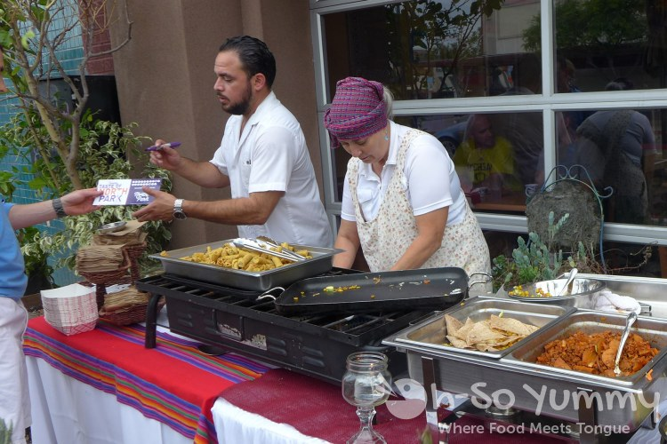 servers at Ranchos Cocina during Tuesday Taste of North Park 2015