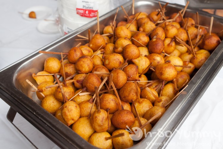 mini mini corndog from coin-op during tuesday taste of north park 2015