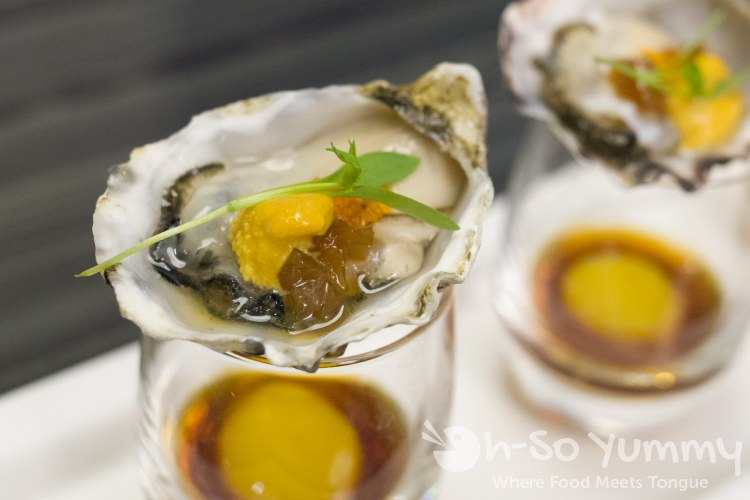 oyster shots at Umi Sushi and Oyster Bar at Pechanga Resort and Casino Temecula