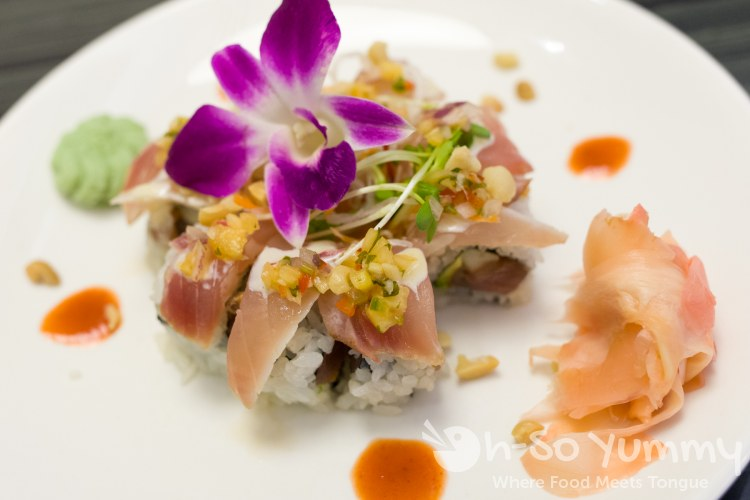 Aloha Roll at Umi Sushi and Oyster Bar at Pechanga Resort and Casino Temecula