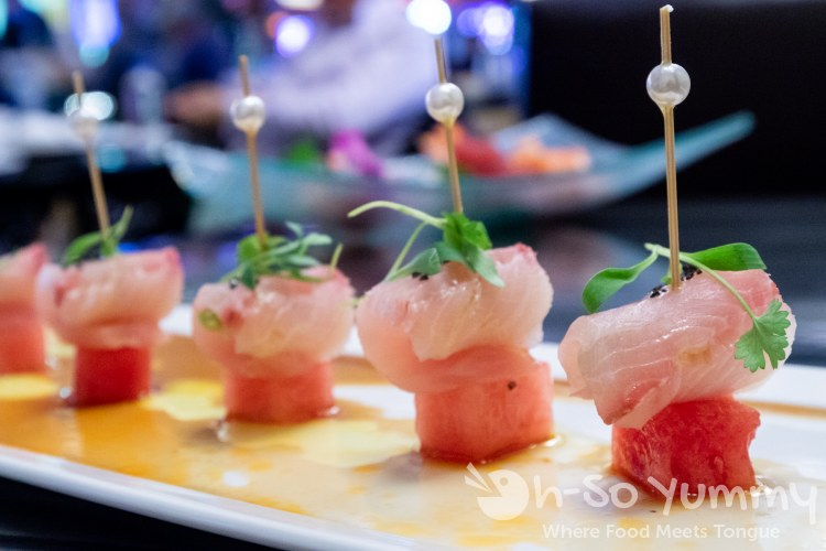 Hamachi crudo at Umi Sushi and Oyster Bar at Pechanga Resort and Casino Temecula