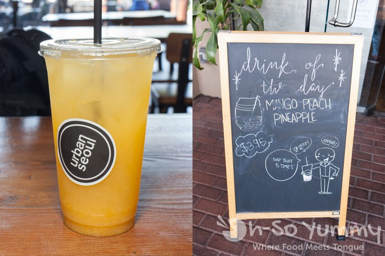 Mango Peach Pineapple drink at Urban Seoul 2.0