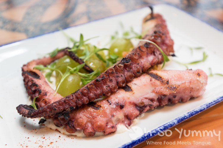 Charred Octopus at Waterbar in Pacific Beach of San Diego