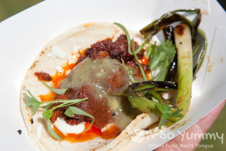 Latin Food Festival 2014 - taco with green onion
