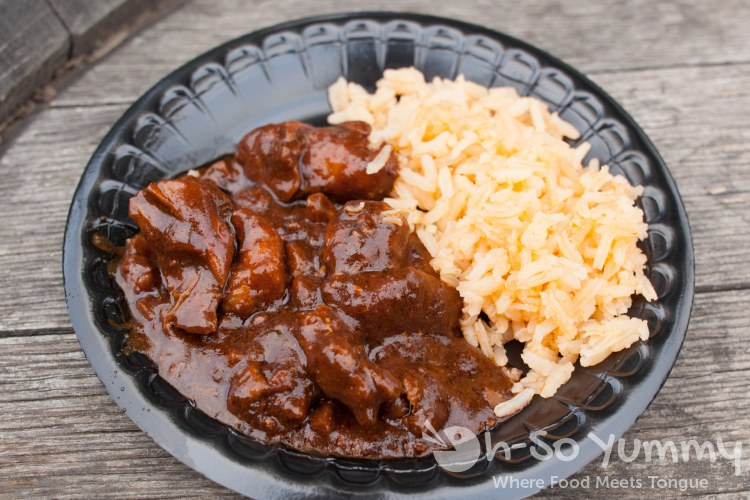 Taste of Old Town 2014 - mexican mole with rice at The Patio