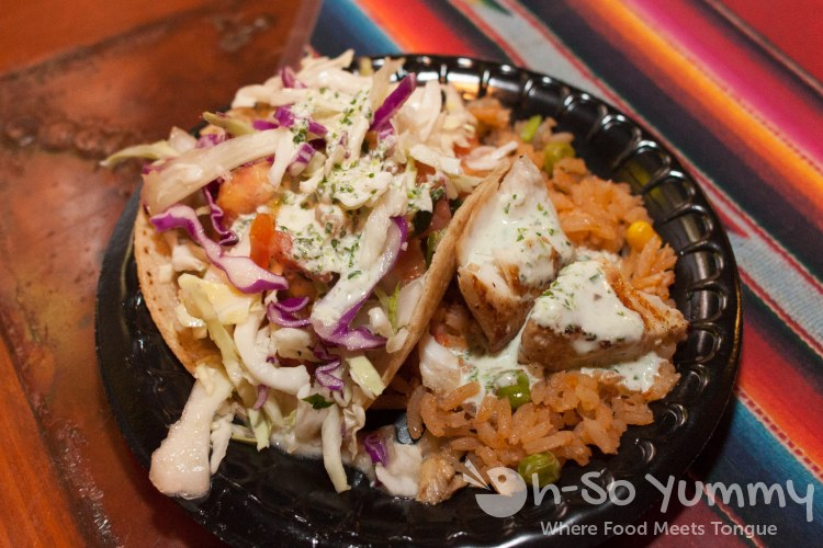 Taste of Old Town 2014 - crispy shrimp taco and grilled mahi-mahi at Casa Guadalajara