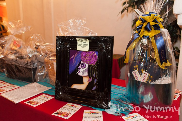 Taste of Old Town 2014 - table with raffle prizes
