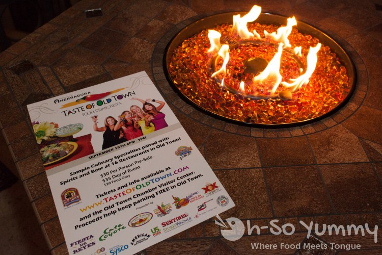 Taste of Old Town 2014 - flyer by the fire