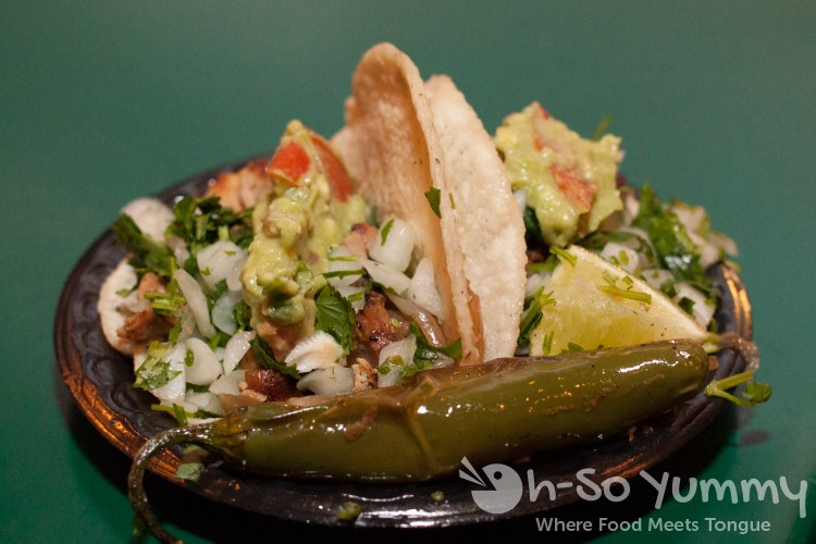 Taste of Old Town 2014 - carnitas and pollo asada street tacos at Old Town Mexican Cafe