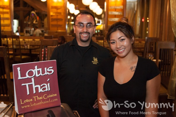 Taste of Downtown 2014 - Alex and Vanessa from Lotus Thai