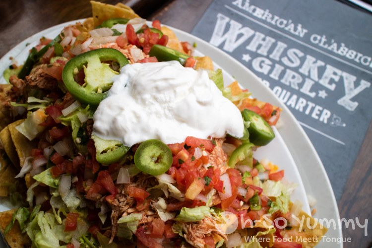 Stacked Nachos at Whiskey Girl San Diego