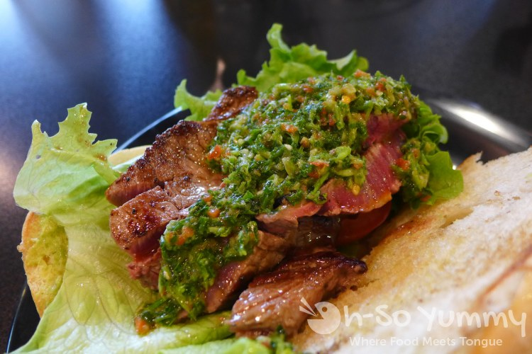 Chimichurri Steak at Wich Addiction in San Diego