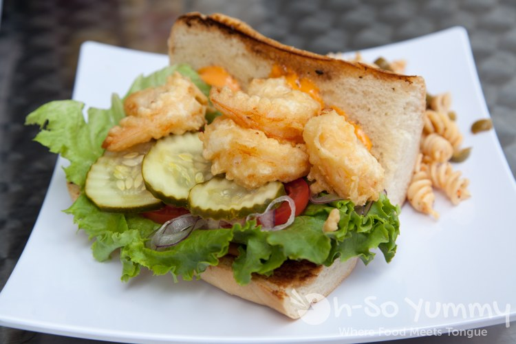 Jumbo Shrimp Poboy at Wich Addiction in San Diego