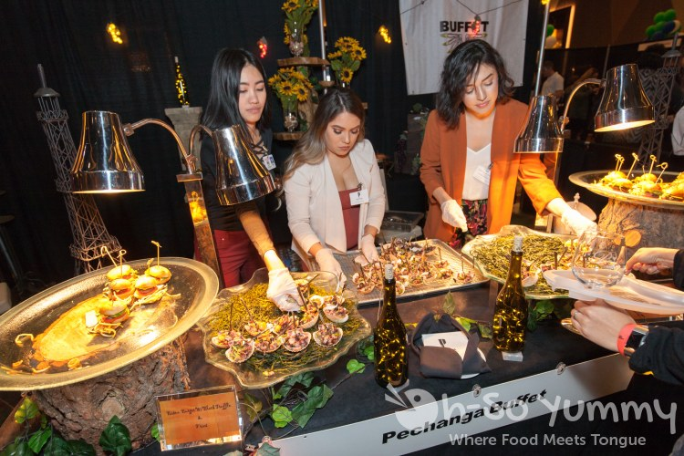 pechanga buffet samples at the 10th annual wine festival at pechanga
