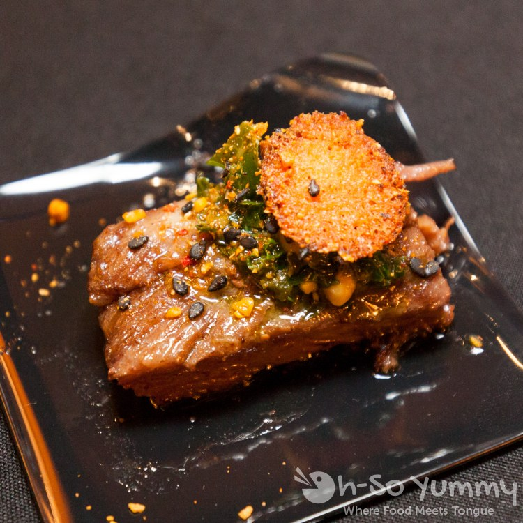 braised beef belly at the 10th annual wine festival at pechanga