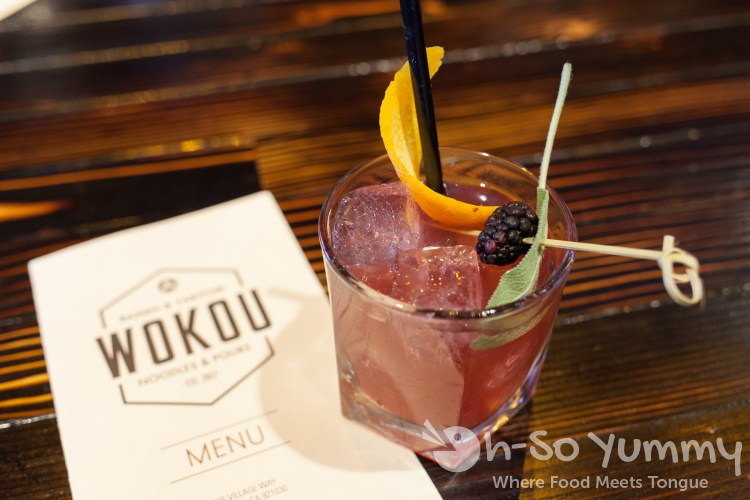 drinks at Wokou Ramen and Yakitori in The Village Pacific Highlands Ranch