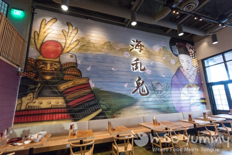 wall art of Wokou Ramen and Yakitori at The Village in Pacific Highlands Ranch