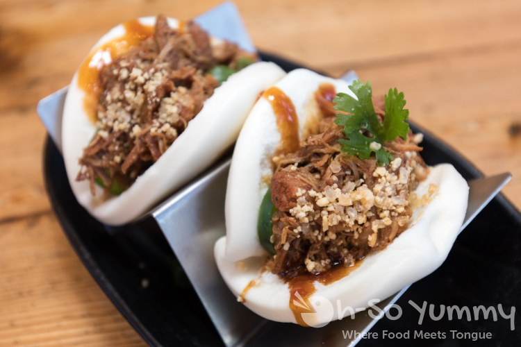 carnitas bao bao at Wokou Ramen and Yakitori in The Village Pacific Highlands Ranch
