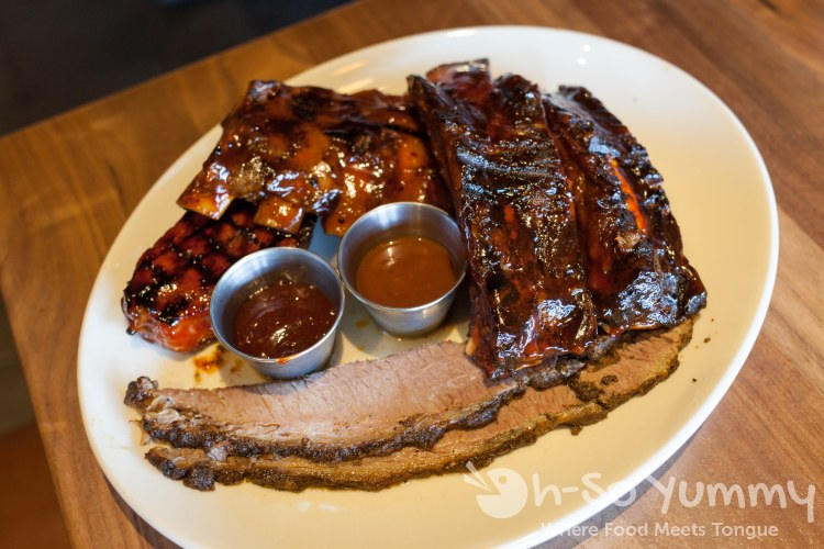 Wood Ranch BBQ combo at Wood Ranch BBQ and Grill