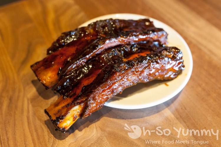 beef ribs at Wood Ranch BBQ and Grill