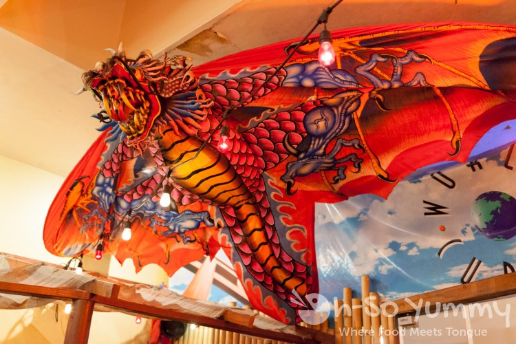 red dragon at World Curry in Pacific Beach San Diego