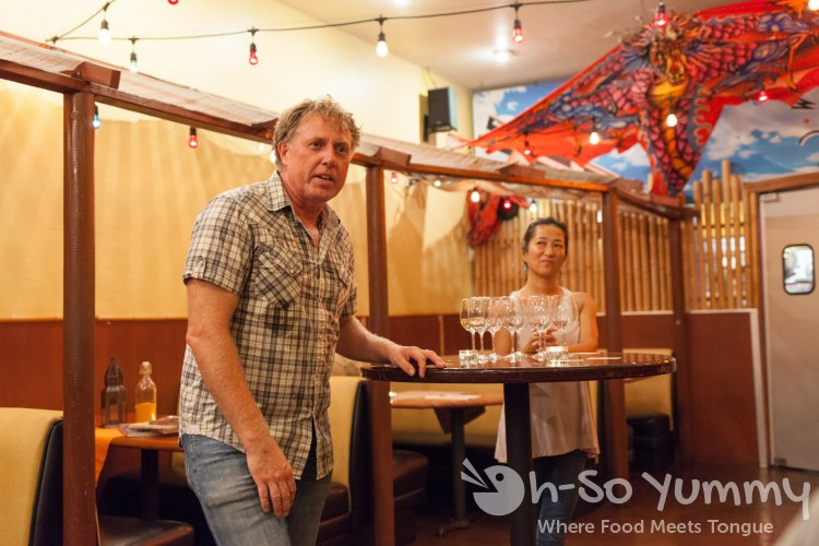 owners Bruce and Momo at  World Curry in Pacific Beach