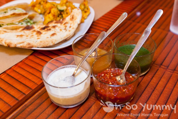 dipping sauces at World Curry in Pacific Beach