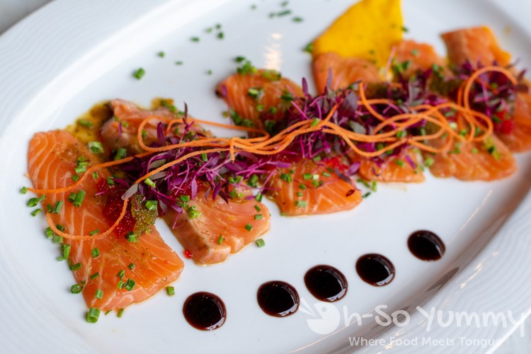 salmon at Butcher's Cut in San Diego gaslamp quarter Drinks