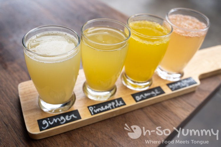 Mimosa Flight at Eureka! restaurant at San Diego State University (SDSU)