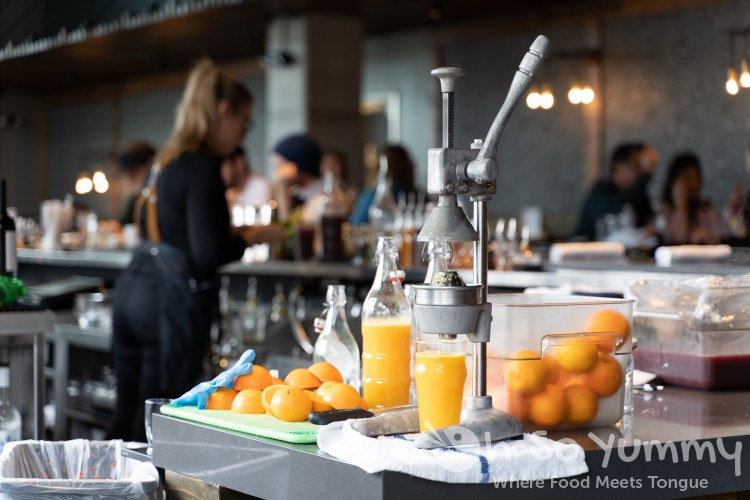 Fresh orange juice at Eureka! restaurant near San Diego State University (SDSU)