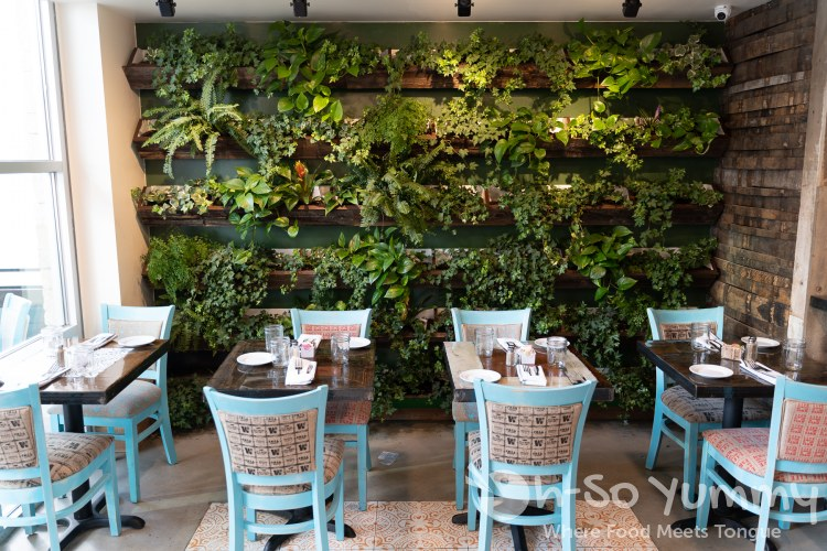 living walls at Farmer's Table restaurant in Little Italy