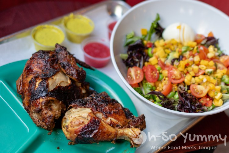 chicken and salad from Cravin Food Done Right in Columbia Maryland