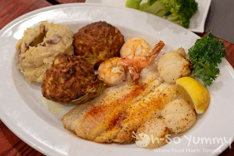 Broiled Seafood Platter at G and M Restaurant in Linthicum Heights Maryland