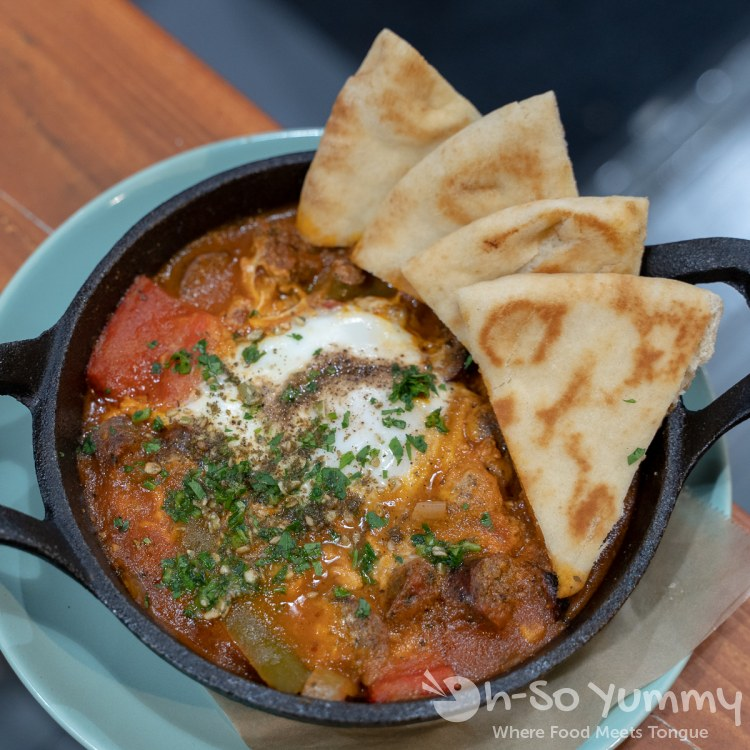 Shakshouka at Medina Moroccan Baja Kitchen in San Diego
