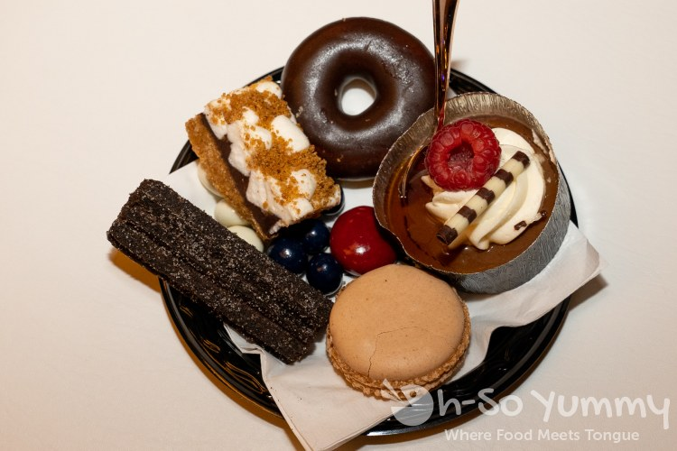 dessert plate at Chocolate Decadence in Pechanga Resort and Casino