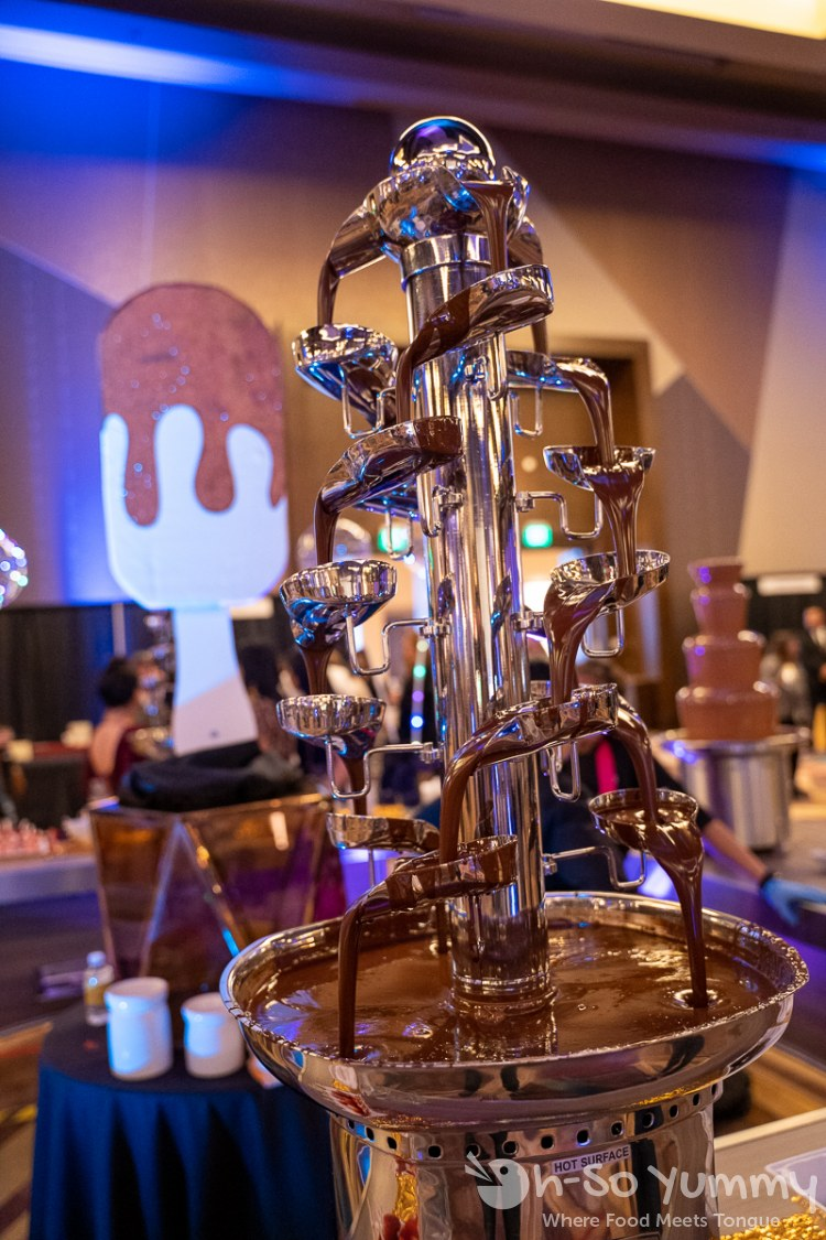 chocolate fountain at Chocolate Decadence in Pechanga Resort and Casino