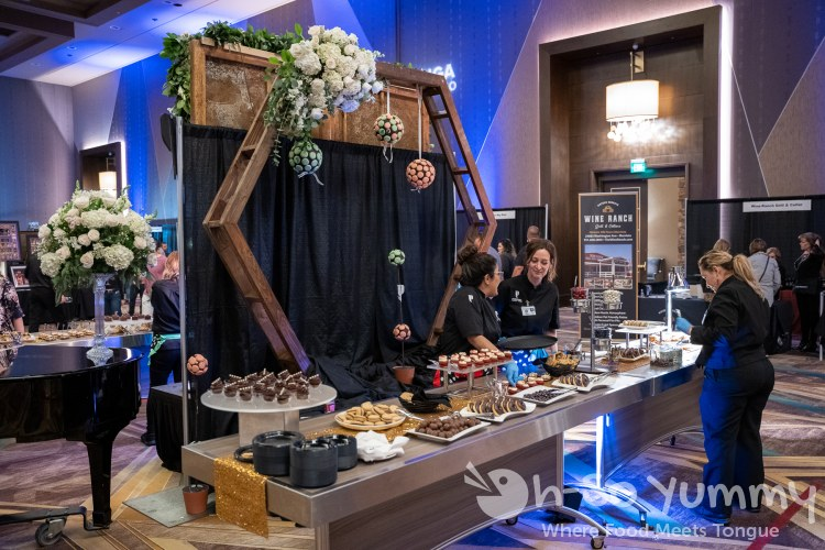 dessert station at Chocolate Decadence in Pechanga Resort and Casino