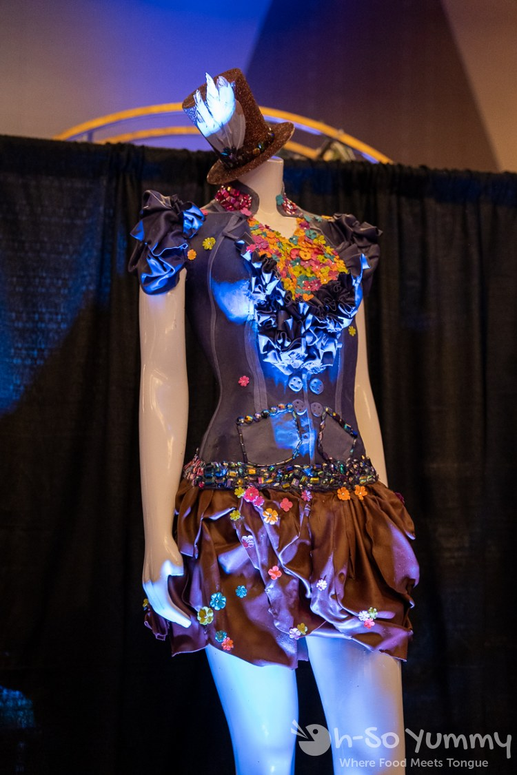 chocolate dress at Chocolate Decadence in Pechanga Resort and Casino