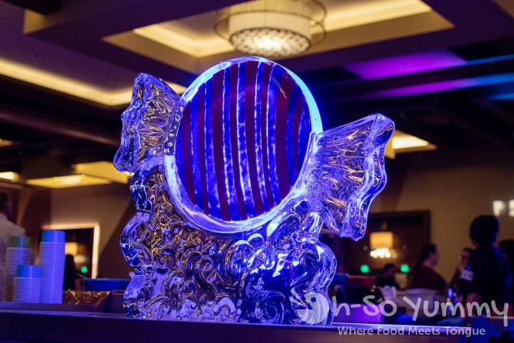 ice sculpture at Chocolate Decadence in Pechanga Resort and Casino
