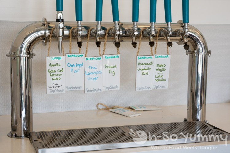 Kombucha on tap at Powerhaus Wholesome Pizza and Eats in San Diego