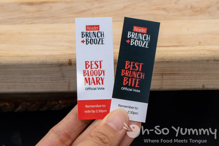 voting tickets for San Diego Reader first annual Brunch and Booze