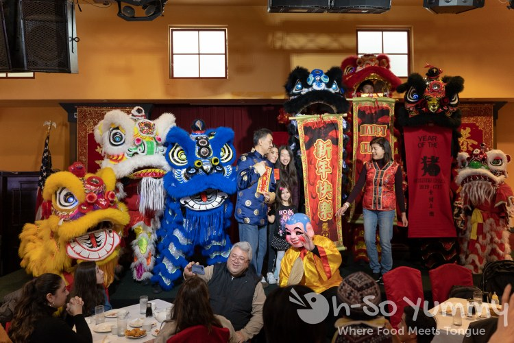 Traditional Lion Dance at Jasmine Seafood for Lunar New Year