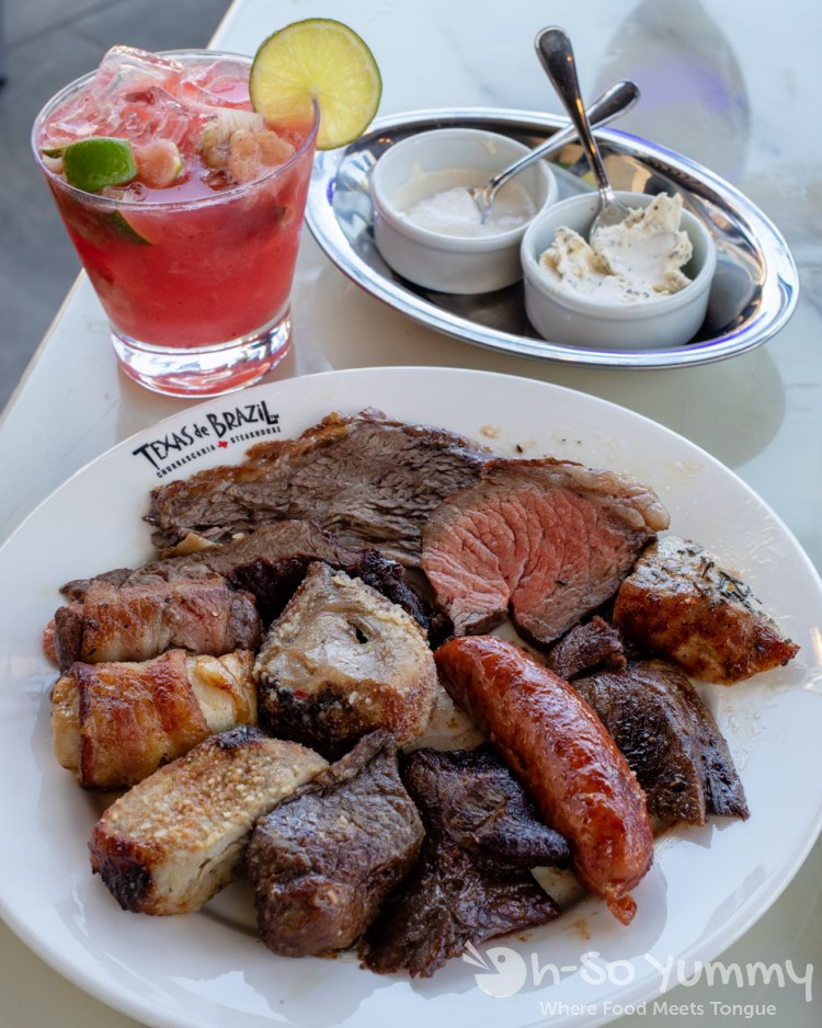 meat platter at Texas de Brazil churrascaria in The Shoppes at Carlsbad