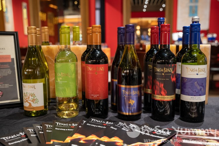 Texas de Brazil wine collection at Texas de Brazil Churrascaria Steakhouse in Carlsbad