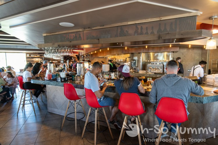 Bar seating at Toast Gastrobrunch in Carlsbad