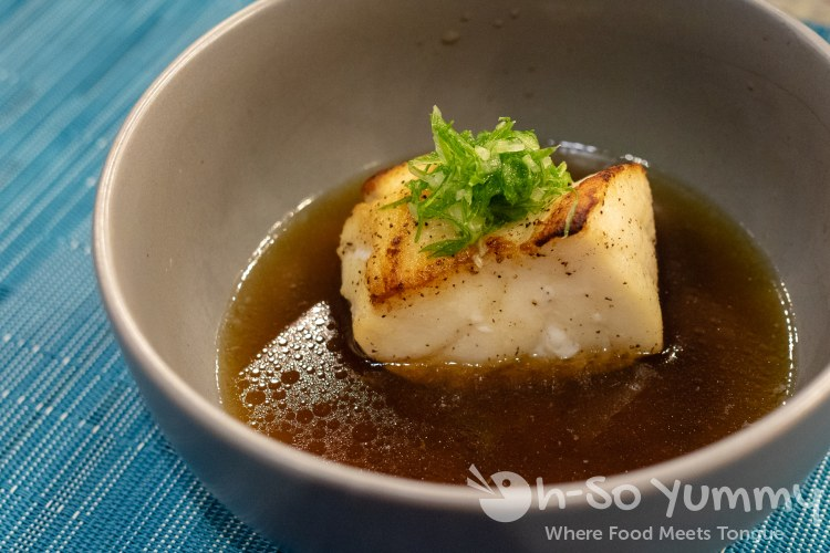 Chilean Sea Bass course during omakase at Too Sushi Project