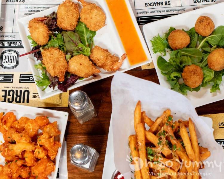 food samples at Urge Gastropub in North City San Marcos