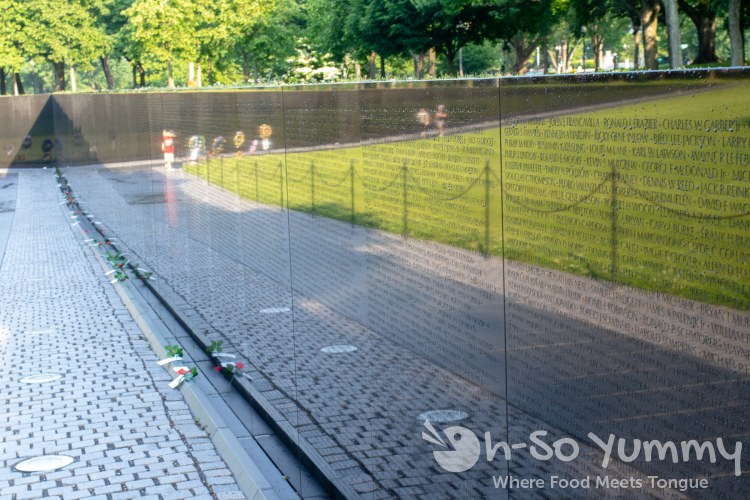 Vietnam Veterans Memorial in Washington DC