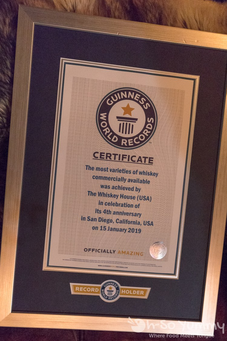 Whiskey House obtains Guinness Book of World Record for whiskey